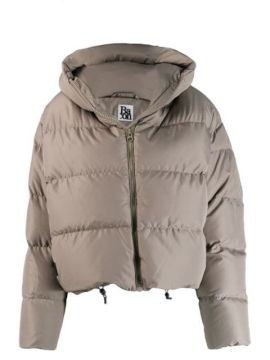 Quilted Puffer Jacket - Bacon