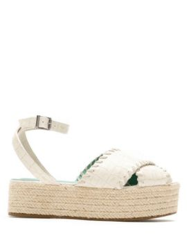 Espadrille Cruzada Couro Croco - Blue Bird Shoes