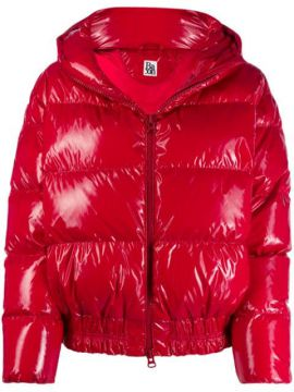 Zipped Puffer Jacket - Bacon