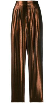 Tapered Metallic Trousers - Indress