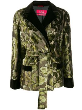 Printed Silk Blend Jacket - F.r.s For Restless Sleepers