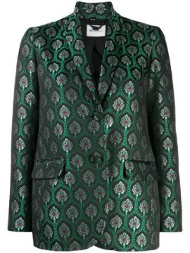 Metallic Patterned Blazer - Be Blumarine