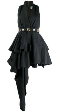 Belted Asymmetric Dress - Fausto Puglisi