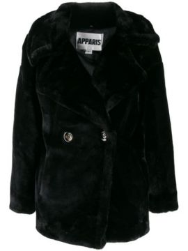 Double-breasted Faux-fur Coat - Apparis