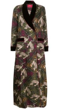 Printed Silk Coat - F.r.s For Restless Sleepers