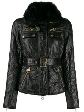 Quilted Belted Biker Jacket - Barbour