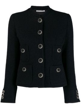 Tailored Decorative Button Jacket - Alessandra Rich