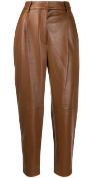 Tapered Leather Trousers - Antonelli