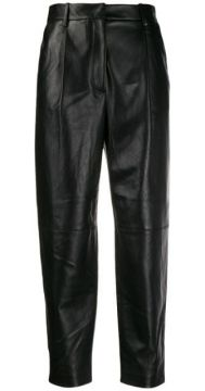 Leather Tapered Trousers - Antonelli