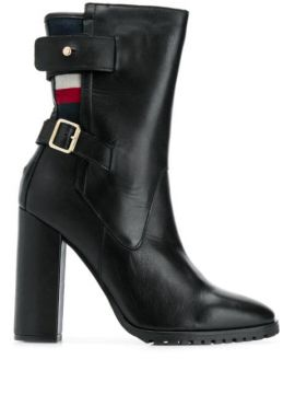 Tricolour-stripe Buckled Boots - Tommy Hilfiger