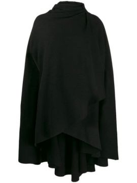 Hooded Wrap Front Cape - Aganovich