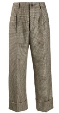 Checked Wide-leg Trousers - Berwich