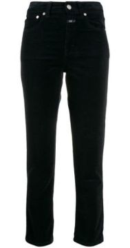 High-waisted Corduroy Trousers - Closed