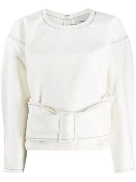 Twill Belted Pullover Top - 3.1 Phillip Lim