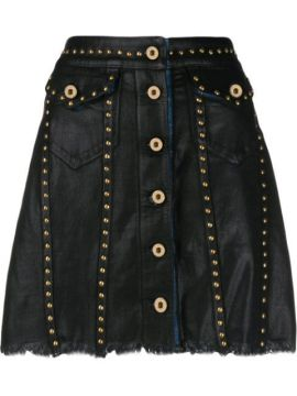 Studded Short Skirt - Versace Jeans Couture