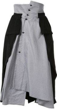 Jersey-panelled Houndstooth Skirt - Aganovich