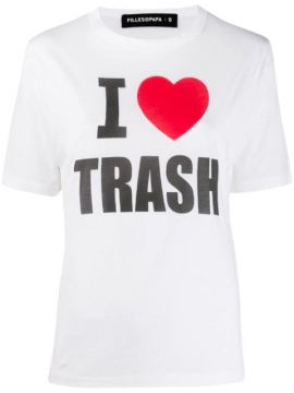 I Love Trash T-shirt - Filles A Papa
