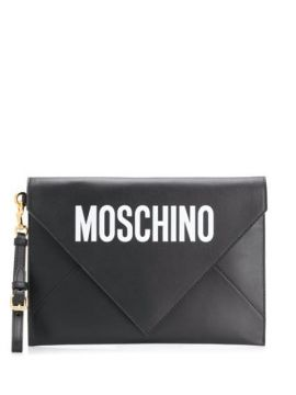 Clutch Com Estampa De Logo - Moschino