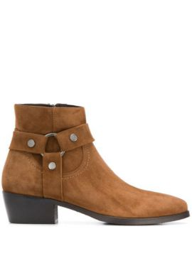 Strap-embellished Ankle Boots - Albano