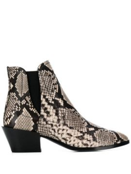 Snake Effect Ankle Boots - Tods
