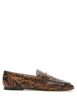 Loafer Cuoio De Couro - Tods