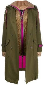 Layered Trench Coat - Bazar Deluxe