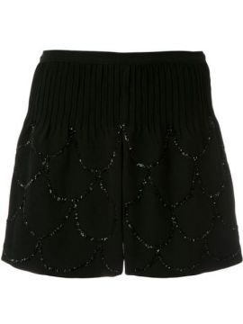 Short Pie Couture Com Bordados - Andrea Bogosian