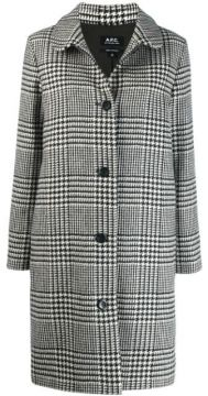 Houndstooth Patterned Coat - A.p.c.