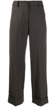Pinstripe Cropped Trousers - Brag-wette