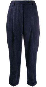 Pinstripe Tapered Trousers - Brag-wette