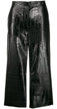 Croc Embossed Cropped Trousers - Brognano