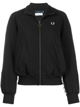 Embroidered Logo Bomber Jacket - Fred Perry