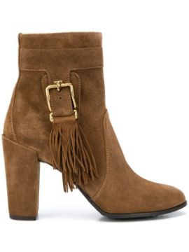 Fringed Ankle Boots - Tods