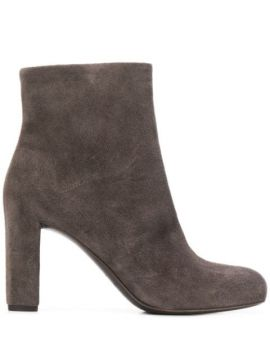 Chunky Heel Ankle Boots - Del Carlo
