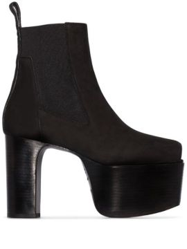 Black Kiss 125mm Open-toe Ankle Boots - Rick Owens