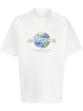 World Logo Print T-shirt - Ader Error