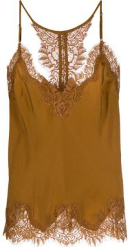 Lace Trim Slip Top - Gold Hawk
