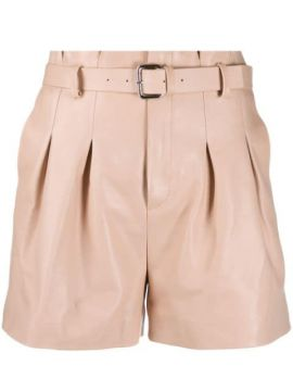 Paperbag Leather Short - Red Valentino