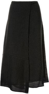 Asymmetric Panel Striped Skirt - Cefinn
