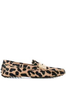 Animal Print Loafers - Tods