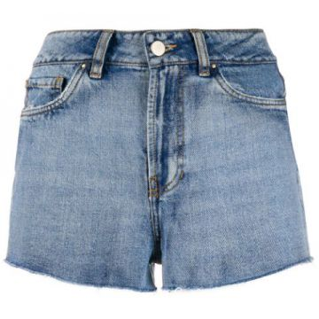 Embroidered Denim Short - Esteban Cortazar