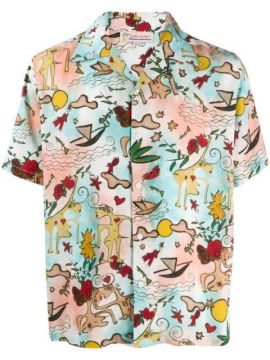 Printed Illustrations Shirt - Esteban Cortazar