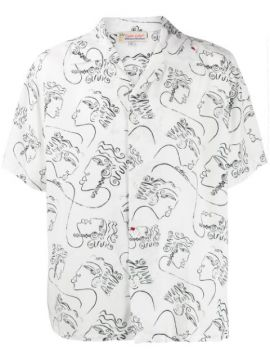 Printed Short Sleeved Shirt - Esteban Cortazar