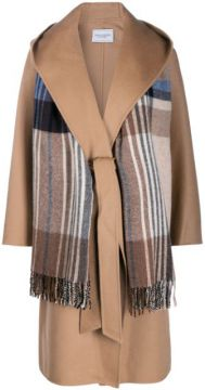 Scarf Detail Wide-lapel Coat - Forte Dei Marmi Couture