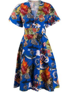 Popular De Lujo Print Dress - Esteban Cortazar