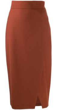 Draped Pencil Skirt - Antonelli