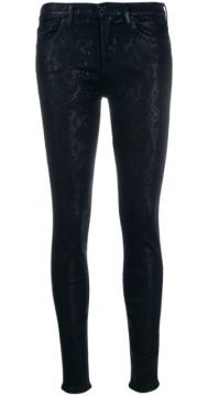Snake Print Skinny Trousers - 7 For All Mankind
