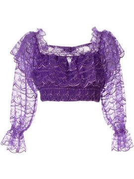 Satellite Of Love Cropped Lace Top - Alice Mccall