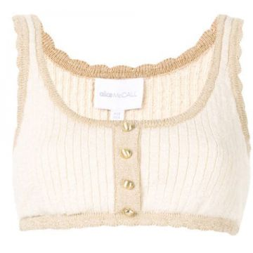Heaven Help Cropped Top - Alice Mccall