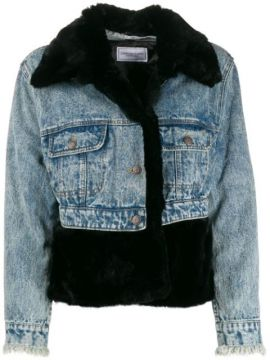 Fur-trimmed Denim Jacket - Forte Dei Marmi Couture